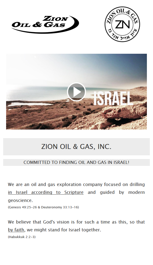 Zion Oil Email